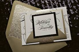 wedding invitations black and white real wedding katelyn and timothy black and gold glitter wedding