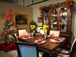 dining room tearful christmas decorations table centerpieces