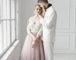 custom wedding dress pink wedding dress etsy