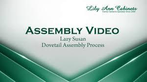rta kitchen lazy susan cabinet dovetail assembly process on vimeo