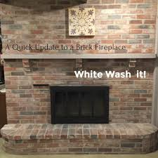 white washing brick fireplace binhminh decoration