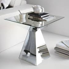Mirrored Side Table Cattelan Italia Theo Mirrored Side Table