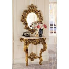 console table and mirror set design toscano madame console table and mirror set reviews wayfair