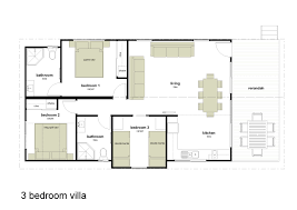 apartments 3 bedroom villa floor plans alivio tourist park