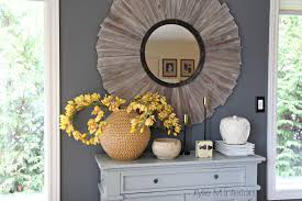 country style mirrors home decor benjamin moore gray on feature wall in farmhouse or country style