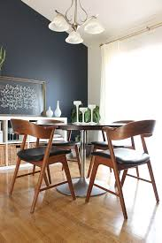 Navy Accent Wall by Dining Room Makeover Saffron Avenue Saffron Avenue