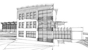 pencil sketch of a building stock photo picture and royalty free