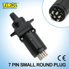tirol t21227b 7 pin trailer plug trailer light connector 12v 7 way