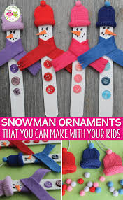 snowman crafts for kids a diy snowman christmas ornament early