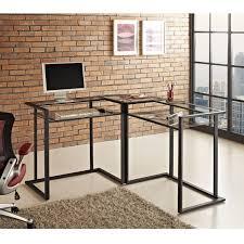 black glass corner desk we furniture 56
