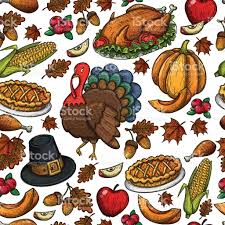 thanksgiving icons pictures seamless pattern of thanksgiving icons stock vector art 623751626