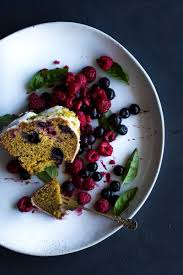olive oil almond bundt cake with berries basil sugar the