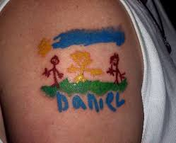 tattoo children u0027s names designs tattoos of children s names