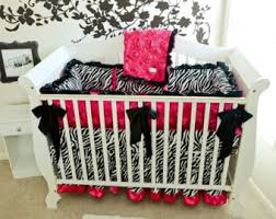 black and white stripe with gold crib sets for girls fancy