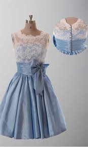 lace vintage cute bow knot short bridesmaid dresses ksp289 ksp289