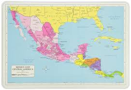 Map Of Central Mexico by Amazon Com Painless Learning Africa Map Placemat Home U0026 Kitchen