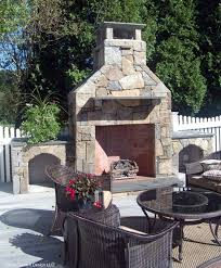 Outdoor Fieldstone Fireplace - outdoor fireplace milford ct classic garden design llc