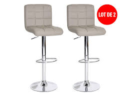 tabouret cuisine conforama lot de 2 tabourets de bar réglable assise rotative nala coloris