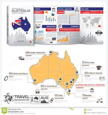 Australia Time Zone Map by Commonwealth Of Australia Travel Guide Book Business Infographic