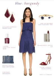 blue and burgundy