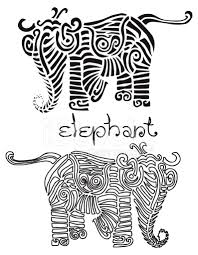 simple linocut style elephant illustration stock photos