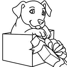puppies coloring pages christmas gift coloringstar