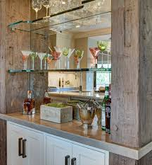 Bar Mirror With Shelves by Glass Bar For House Wine List Logo With Glass Bottle And Grapes