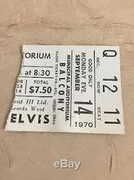 ticket stub album elvis photo album with concert ticket stub attached