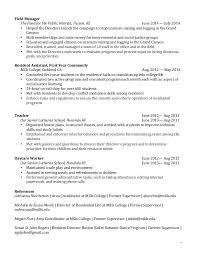 Student Resume Creator by Yee Ashley Student Affairs Resume