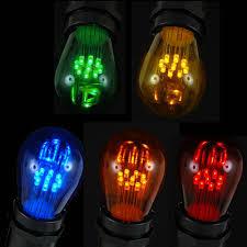 assorted multi color led s14 bulbs with 9 led u0027s novelty lights inc