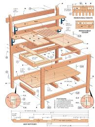 garden work table plans awesome how to build a portable potting