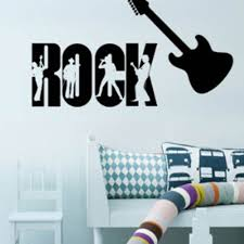 aliexpress com buy new bedroom adornment mural wall art music aliexpress com buy new bedroom adornment mural wall art music rock guitar wall stickers rock profile wall decals 60 90cm from reliable wall decals