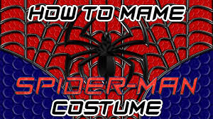 how to make a spider man costume part 1 youtube