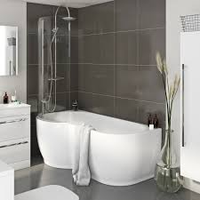 estuary corner shower bath 1500mm with screen panel screens