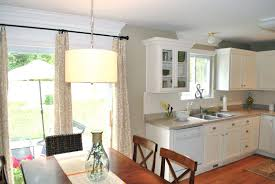 Kitchen Window Treatment Ideas Pictures by Breakfast Nook Curtain Ideas Custom Fabric Roman Shades Up To
