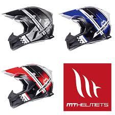 mt synchrony endurance red blue black motocross helmet quad mx off