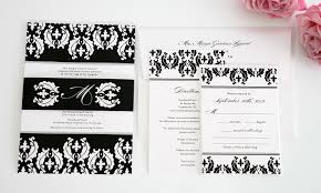 Black Wedding Invitations Black And White Wedding Invitations Unique And Beautiful Elasdress
