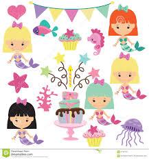 illustration cute mermaid royalty free stock images image 38154119
