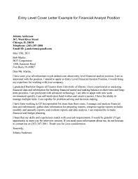 exle resume cover letter financial analyst cover letter exle http www resumecareer