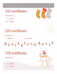 holiday gift certificate template template for word 2013 or newer