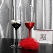 exquisite chagne flutes wine glasses tulle wedding