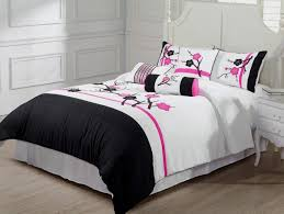 bedding set wonderful black and white twin bedding triangle home
