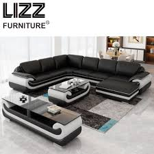Modern Leather Living Room Furniture Sets Corner Sofas Living Room Furniture Sets Miami Modern Leather