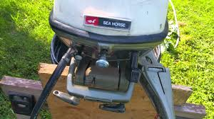 1972 johnson 6hp outboard start up youtube