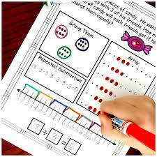 five ways to solve division word problems with free worksheets