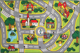 Kids Play Rugs With Roads by Deco Lovers City Road Roads Kids Rug 100x150cm Childrens Baby Play