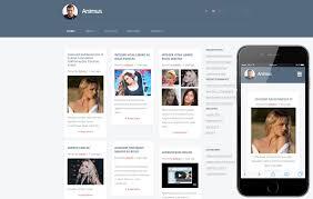 blog mobile website templates