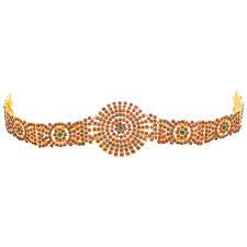 bharatanatyam hair accessories buy fashion205 brass bharatanatyam classical jewellery set