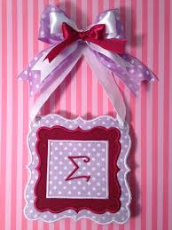 sigma wall decor with ribbon sorority sisters