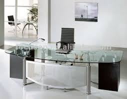 Modern Glass Top Desk Fks Hd Ed024 Modern Glass Top Office Desk Furniture Pinterest